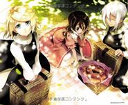 Rin, Yukina y Clarith (Praefacio of Blue)