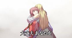 Elluka abrazando a Irina