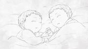 Riliane y Alexiel bebés (Ese Rey Nació del Barro)