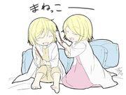 Riliane y Alexiel niños (Ichika)