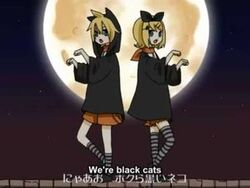 Black cats of halloween len and rin kagamine by otakuforeternity-d59f76l