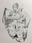 Riliane y Allen de Halloween (Ichika)