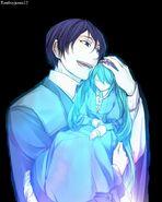 Gally and Doll hug