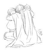 Arth, Riliane y Alexiel (Ichika)