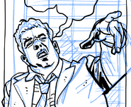 Partial inking of Gil's drunken fit