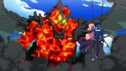 Saito and Louise fight Ancient Dragon