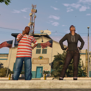 Chloe, and Tyrell waiting for a pickup after serving their prison sentences.