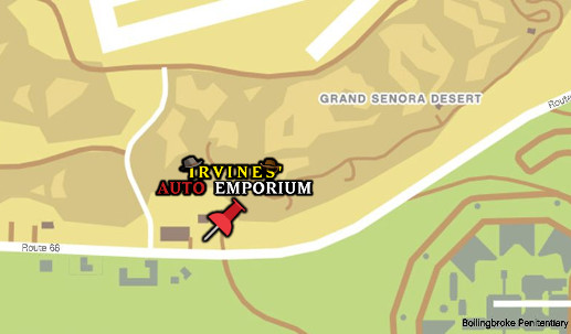 Irvines Auto Emporium Map
