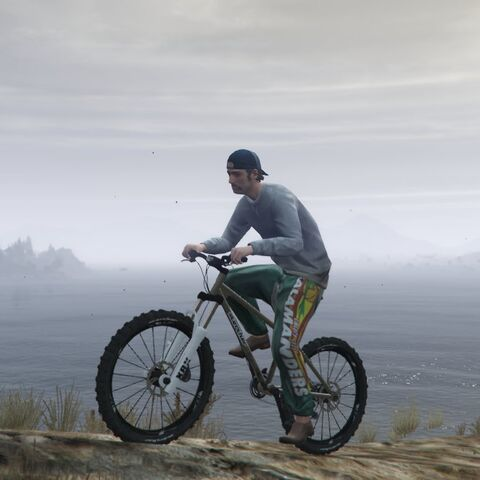 Gary riding his mountain bike