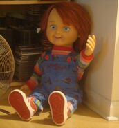 The Chucky doll in Stuart`s home.