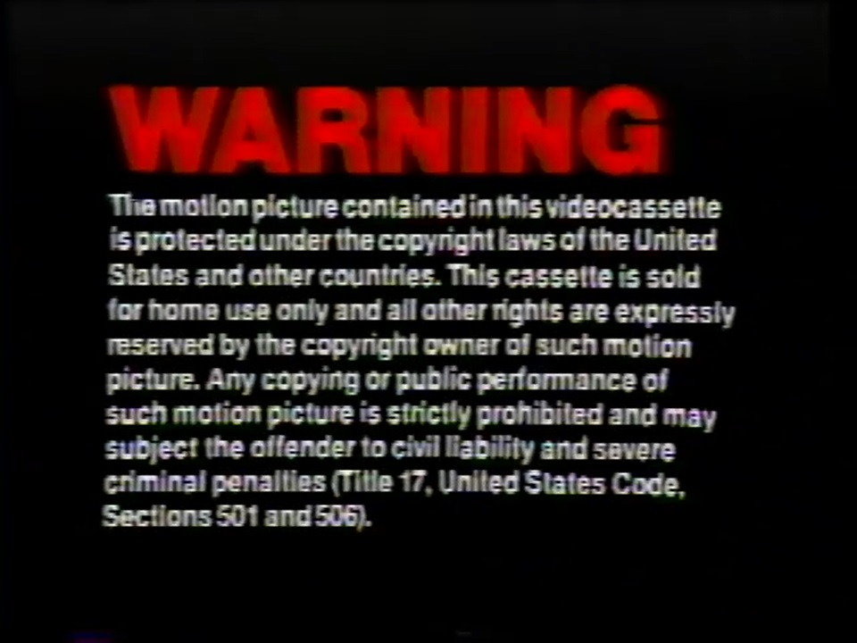 Mca Universal Pictures Home Entertainment Warning Screens The Fbi Warning Screens Wiki Fandom
