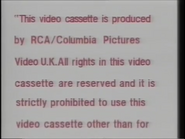 RCA-Columbia Pictures International Video Warning (1982) (S2)