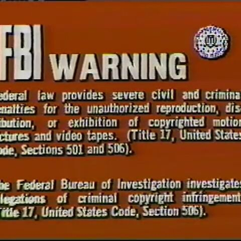 This is the Fox warning for videotapes.