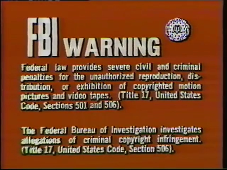 20th Century Fox Home Entertainment Warning Screens The Fbi