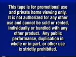 A Disney Extremely Rare Promotional Warning Screen