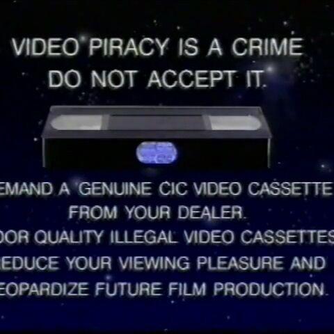 Home Video Anti-Piracy Advices | The FBI Warning Screens