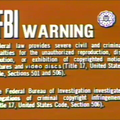 This is the Fox laserdisc warning.
