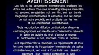Sony Wonder Canadian French Warning