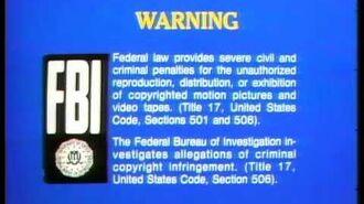 1980 Blue FBI Warnings 1978 Walt Disney Home Entertainment Logo HQ
