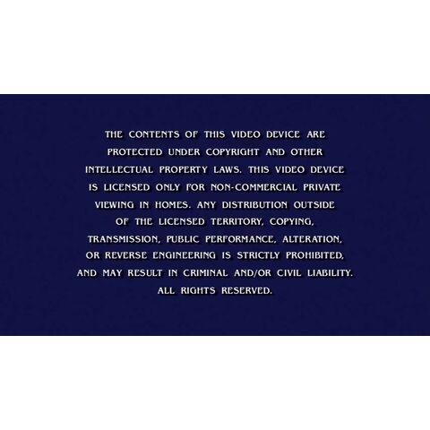 DreamWorks Home Entertainment Warning Screen