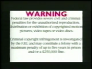 York Entertainment FBI Warning