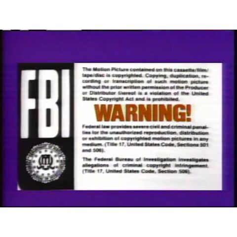 The MPI Warning Screen on a Purple Background