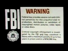 FBI Warning Logo (1978-2004) with the blown whistle (1997-1998)