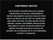 Copyright Notice 2001 Warning Screen