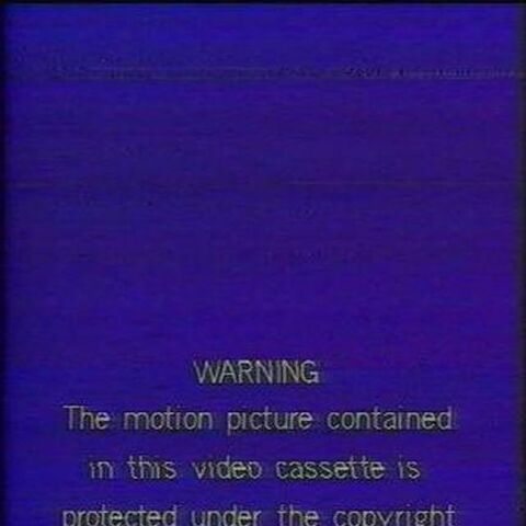 The United/VCI warning scroll with the