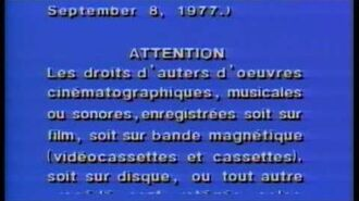 Warner Home Video Canadian Warning Scroll (Widescreen)