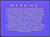 1995 Disney Videos Warning Screen from the Philippines