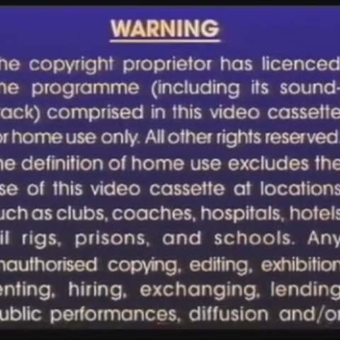 Sony Pictures Home Entertainment Warning Screens The Fbi