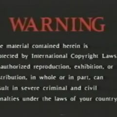 The early version of this warning.