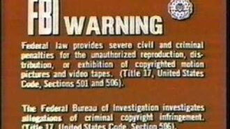 CBS-Fox Video Warning Screen 1978-1984, 1987, 1992