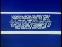Pay TV Warning Screen