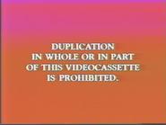 Disney 1991 Canadian Warning Screen