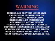 DreamWorks Home Entertainment FBI Warning 2