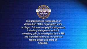 BVWD FBI Anti-Piracy Warning Screen