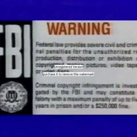 The MPI Warning Screen on a Blue Background