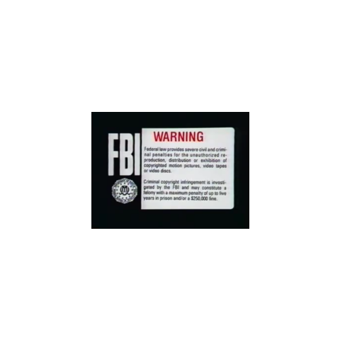 This is the Orion Home Video Warning Screen