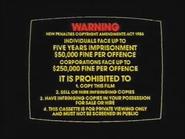 Roadshow Entertainment Warning (1986)