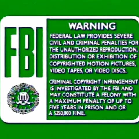 The VCI warning screen with the