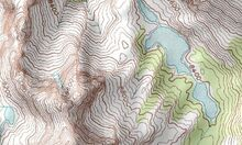 Topographic map grande