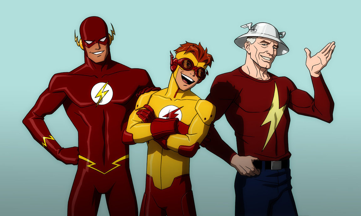 Young justice flash family by jerome k moore-d3axtg1