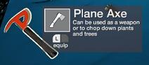 Planeaxe inventory