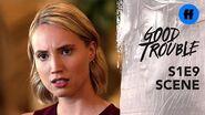 Good Trouble Season 1, Episode 9 Rebecca Tries to Protect a Female Clerk Freeform