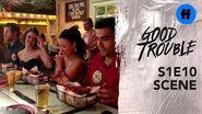 Good Trouble Season 1, Episode 10 The Coterie Hot Wings Showdown Freeform