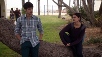 Hostile Acts-Callie and Brandon talking after school