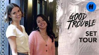 Good Trouble - Set Tour With Maia Mitchell & Cierra Ramirez - Freeform