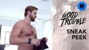 Good Trouble Season 2 Summer Finale Sneak Peek Mariana Sees Evan Shirtless Freeform